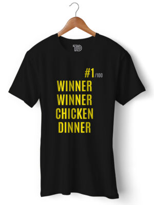 Winner Winner Chicken Dinner Men's Round Neck Regular Fit T-Shirt