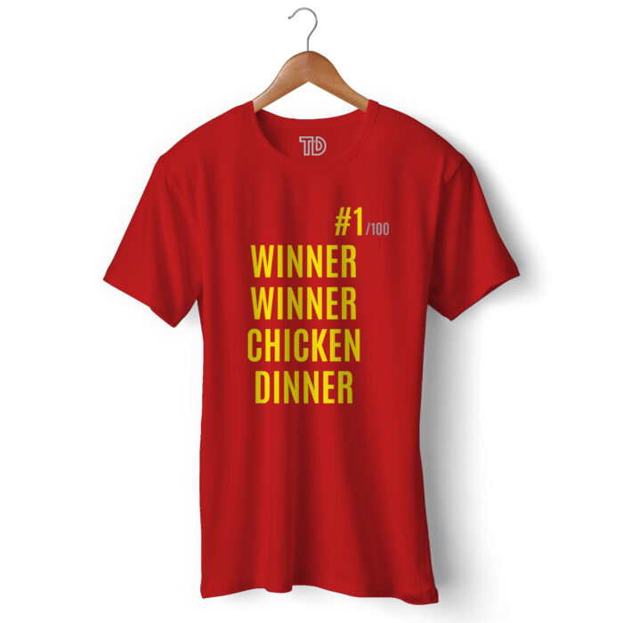 Winner Winner Chicken Dinner Men's Round Neck Regular Fit T-Shirt