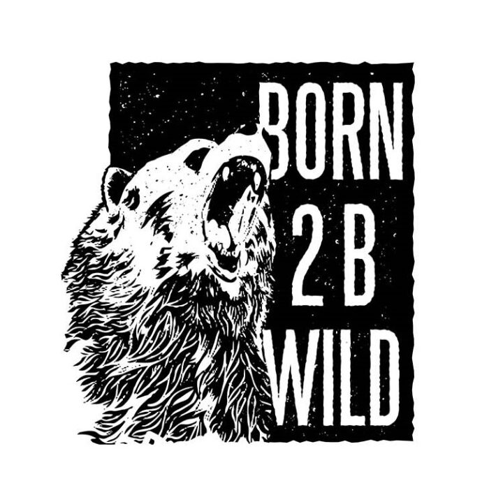 Born To Be Wild Men's Round Neck Regular Fit T-Shirt