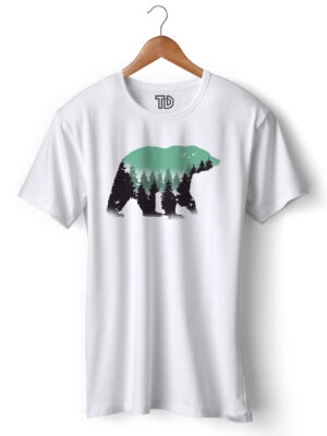 Bear Forest Men's Round Neck Regular Fit T-Shirt