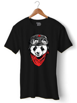 Cool Panda Men's Round Neck Regular Fit T-Shirt