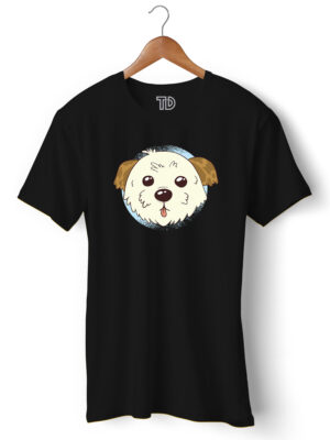 Cute Morkie Dog Men's Round Neck Regular Fit T-Shirt