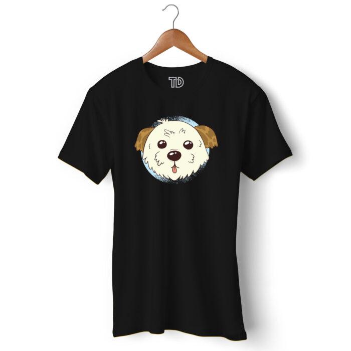 Cute Morkie Dog Men's Round Neck Regular Fit T-Shirt