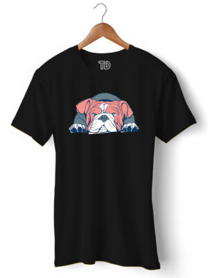Bulldog Men's Round Neck Regular Fit T-Shirt