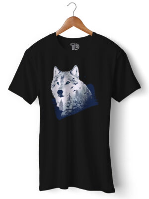 Wolf Forest Men's Round Neck Regular Fit T-Shirt