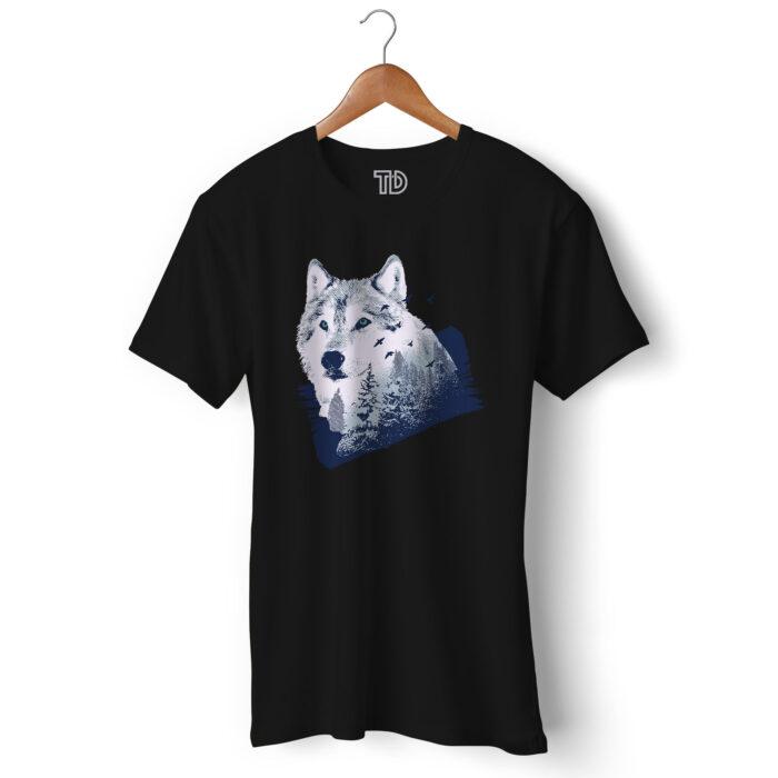 Wolf Forest Men's Round Neck Regular Fit T-Shirt