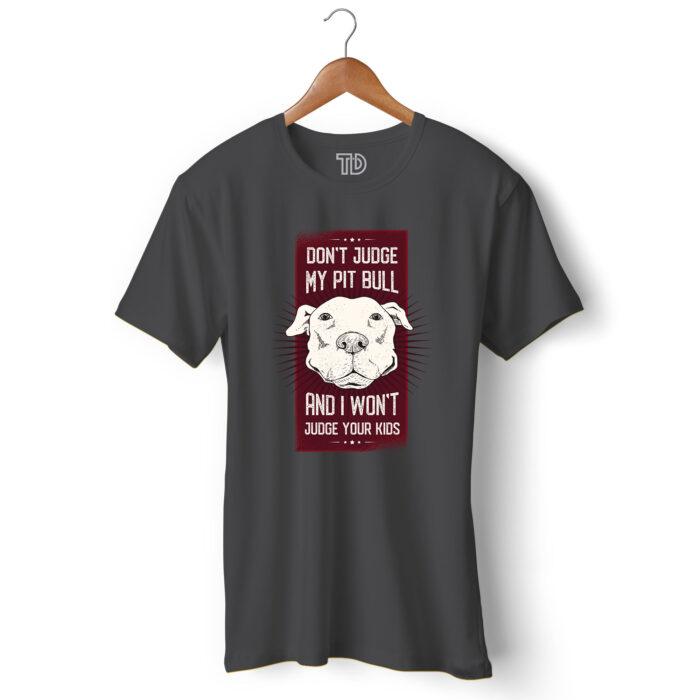 Pitbull Dog Men's Round Neck Regular Fit T-Shirt