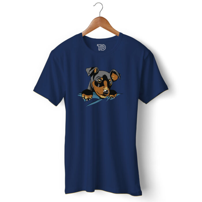 Pocket Dog Men's Round Neck Regular Fit T-Shirt
