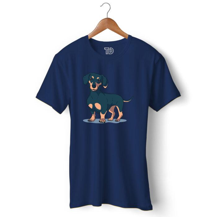 Dachshund Dog Men's Round Neck Regular Fit T-Shirt