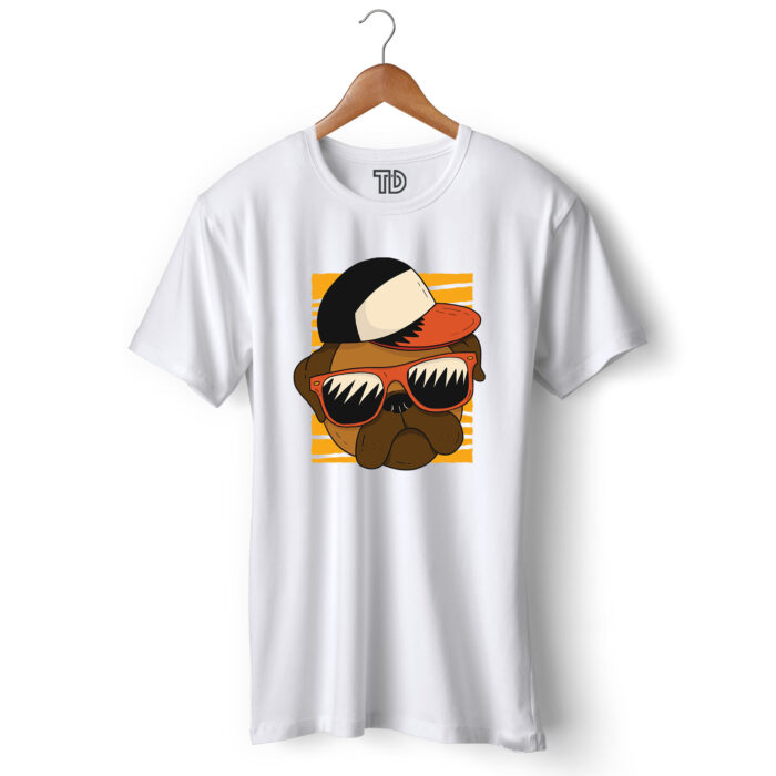Cool Pug Men's Round Neck Regular Fit T-Shirt