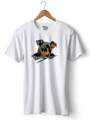 Pocket Dog Men's Round Neck Regular Fit T-Shirt