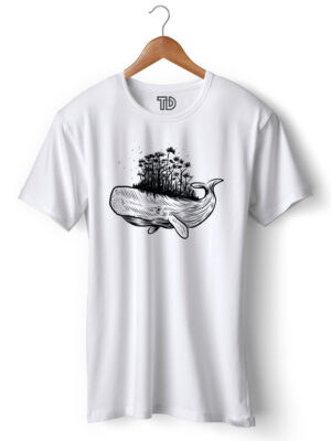 Whale Forest Men's Round Neck Regular Fit T-Shirt
